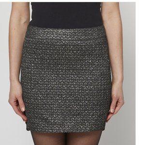Zadig & Voltaire Metallic Mini Skirt